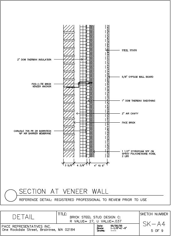 The gallery for gt light gauge metal framing wall section
