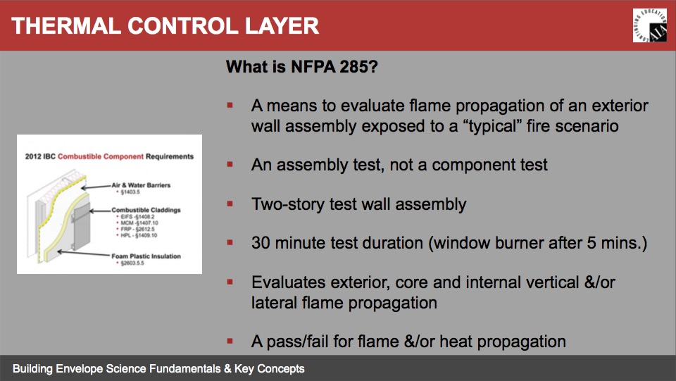 Nfpa 285 Information Amp Test Reports Pace Representatives